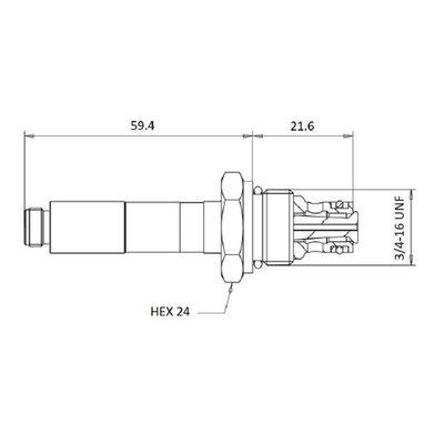 Cartridge NC Double Lock voor 2/2 klep 20 L/min