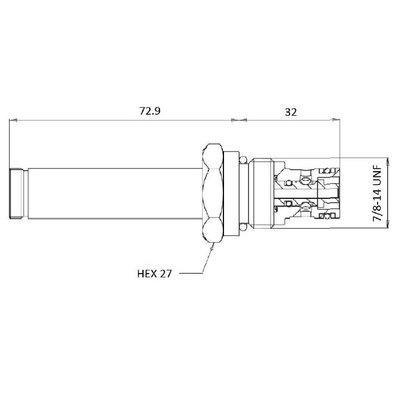 Cartridge NC Double Lock voor 2/2 klep 30 L/min