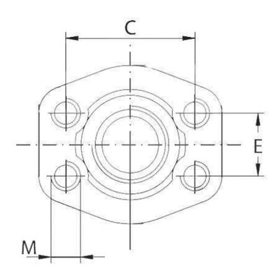SAE schroefdraad tegenflens (female) 2 BSP, 2 inch, 3000 PSI