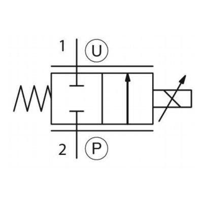 Proportioneel stroomregelventiel 12V