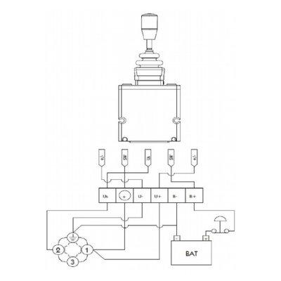 Joystick voor proportioneel stuurventiel