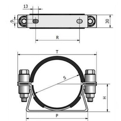 CR Bevestigingsbeugel 114 mm