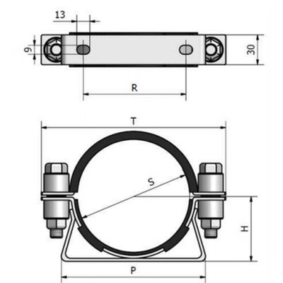 CR Bevestigingsbeugel 168 mm