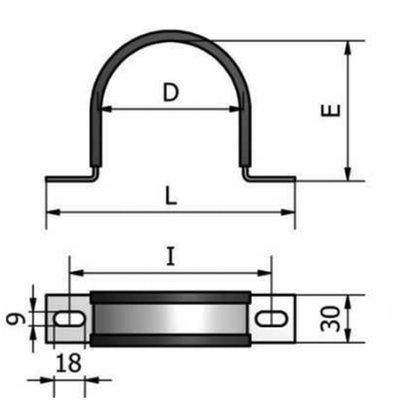 CRE Bevestigingsbeugel 115 mm