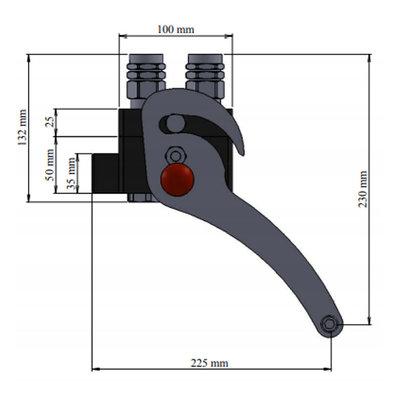 Multi snelkoppeling 4 lijnen met connector
