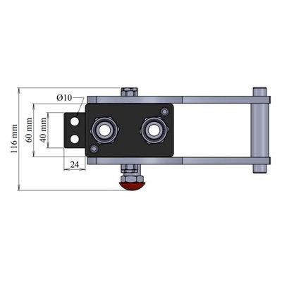 Multi snelkoppeling 2 lijnen met connector
