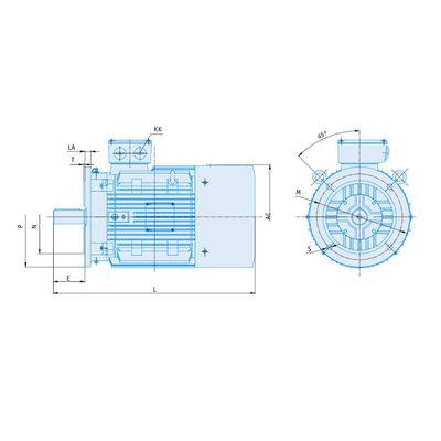 IE1-EG Elektromotor 22 kW, 230/400 Volt 750 RPM
