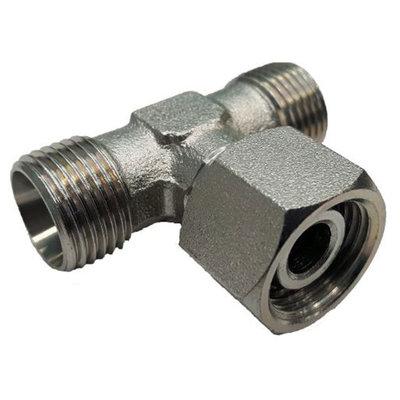 Instelbare T-adapter met o-ring 14S (M22x1,5) (T-uitvoering)