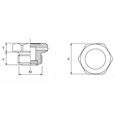 Ontluchtingsventiel voor hydrauliek cilinder 1/2