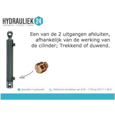 Ontluchtingsventiel voor hydrauliek cilinder 3/8