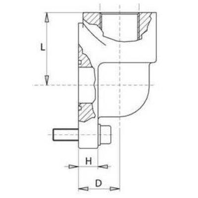 Pompflens haaks, 3 gaats 1/2'' BSP (40mm, gr. 2)