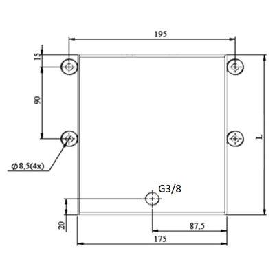 Set: handpomp 25 cc dubbelwerkend + 5 liter tank staal