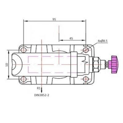 Handpomp 12cc enkelwerkend (tank montage)