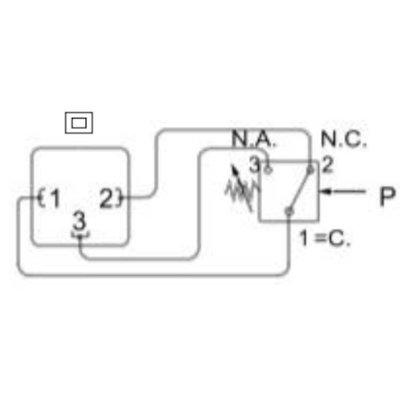 Instelbare hydrauliek drukschakelaar 10-100 bar