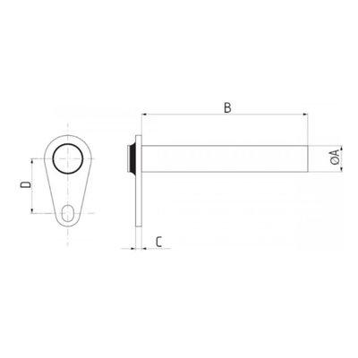 Gaffelpen met diameter 38 mm, lengte 138 mm