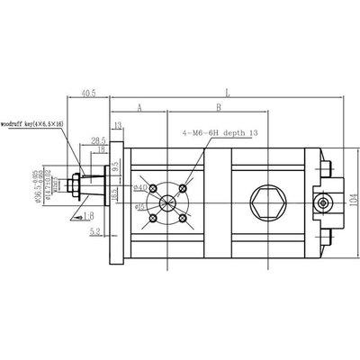 2-traps hydrauliek tandwielpomp 3,5 cc - 6,5 cc groep 2
