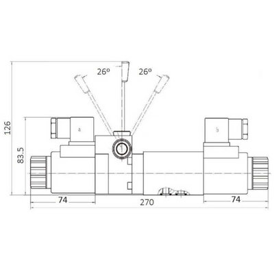 NG6 12V Cetop 4/3 stuurventiel met handbediening, ABPT gesloten