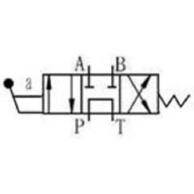 NG6 handbediend Cetop 4/3 stuurventiel, PT verbonden AB gesloten