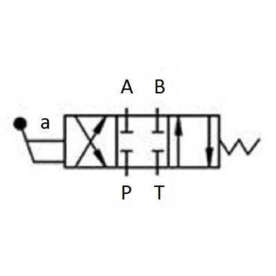 NG6 handbediend Cetop 4/3 stuurventiel, ABPT gesloten