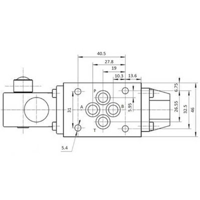 NG6 handbediend Cetop 4/3 stuurventiel, H-middenstand