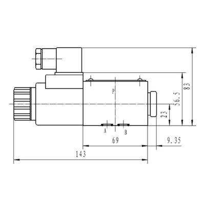 NG6 24V Cetop Elektrisch 4/2 stuurventiel, H-middenstand