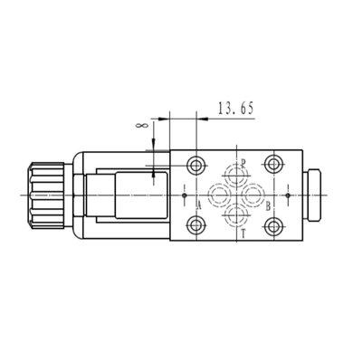 NG6 24V Cetop Elektrisch 4/2 stuurventiel, PA verbonden, BT verbonden