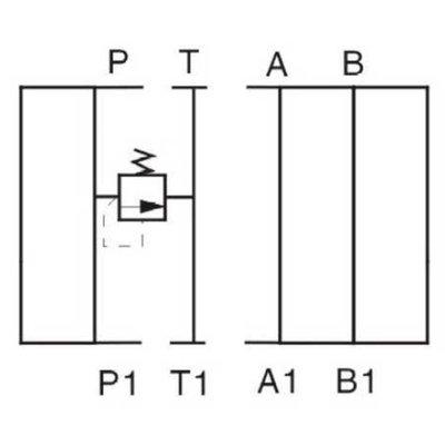 NG6 Hydraulisch overdruk tussenventiel in P 0-315 bar