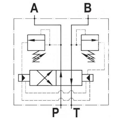NG6 Cetop automatisch omschakelventiel