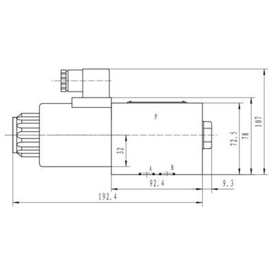 NG10 230V Cetop Elektrisch 4/2 stuurventiel, PA verbonden, BT verbonden