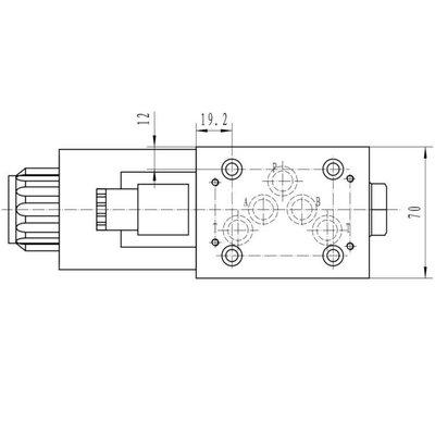 NG10 230V Cetop Elektrisch 4/2 stuurventiel, H-middenstand
