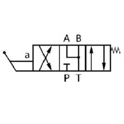 NG10 handbediend Cetop 4/3 stuurventiel, ABT verbonden, P gesloten