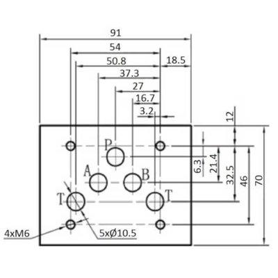 NG10 Hydrauliek druk gestuurde terugslagklep A en B