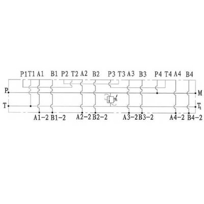 NG6 voetplaat (serie), 2 voudig, met overdruk en boven- en zij aansluiting
