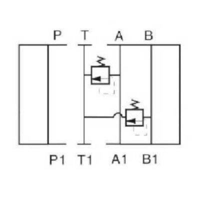 NG10 Hydraulisch overdruk tussenventiel in A en B 5-100 bar