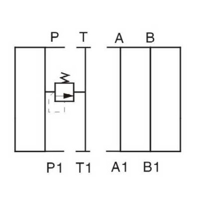 NG10 Hydraulisch overdruk tussenventiel in P 0-315 bar