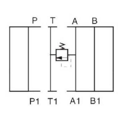NG10 Hydraulisch overdruk tussenventiel in A 5-350 bar