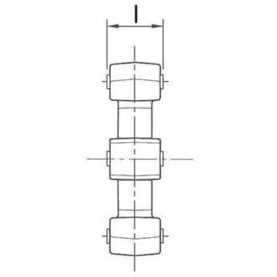 Kunststof ster voor elastische koppeling Ø45x16 mm