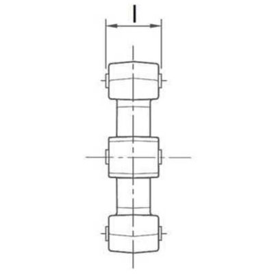 Kunststof ster voor elastische koppeling Ø55x18 mm