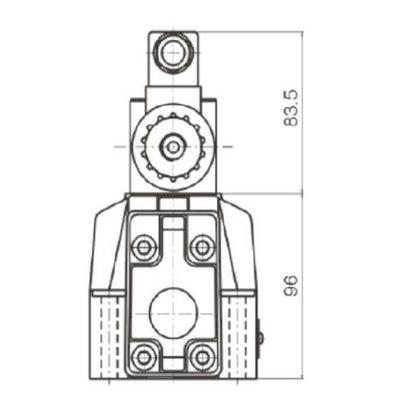 NG16 230V Cetop Elektrisch 4/3 stuurventiel, PT Verbonden AB Gesloten