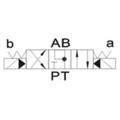 NG16 12V Cetop Elektrisch 4/3 stuurventiel, ABT Verbonden P Gesloten