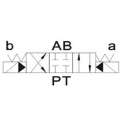 NG16 24V Cetop Elektrisch 4/3 stuurventiel, ABPT Gesloten