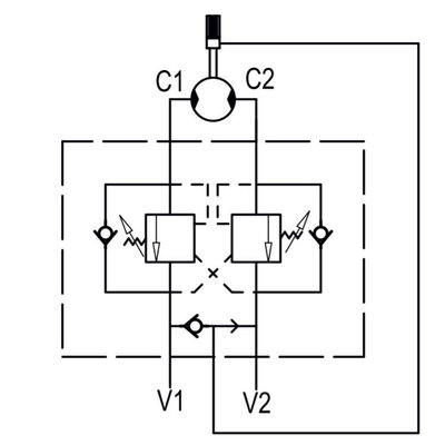Dubbelwerkende balanceerklep flensbaar hydromotor VBCDF 1/2