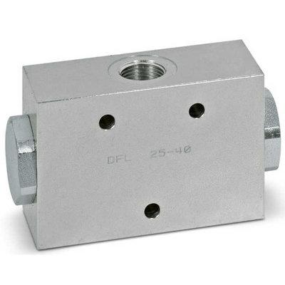 Dubbel splitventiel staal DFL 10-20 3/8