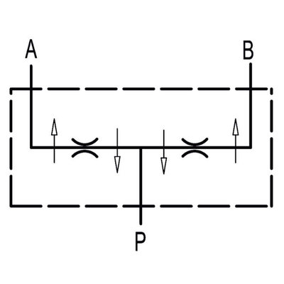 Dubbel splitventiel staal DFL 25-40 1/2
