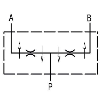 Dubbel splitventiel staal DFL 40-60 1/2