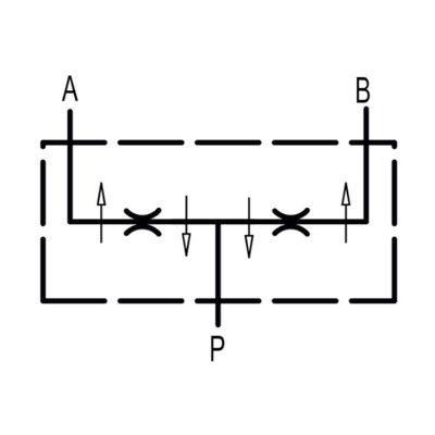 Dubbelwerkende volumesplitsventiel V-EQ 10 3/8