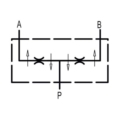 Dubbelwerkende volumesplitsventiel V-EQ 22 3/8