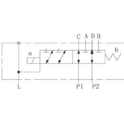 Koppelbaar 6/2 keuzeventiel 80 L/min 24V