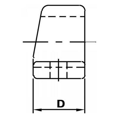 Schaniertap Ø45,5mm, boring afstand 105mm