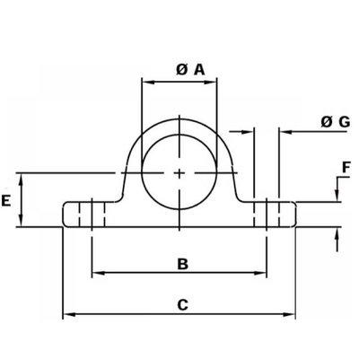 Schaniertap Ø50,5mm, boring afstand 120mm